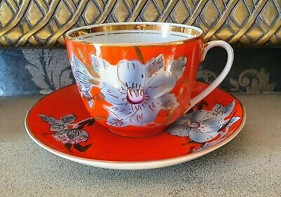Vintage Russian Porcelain Cup And Saucer • 9.99£