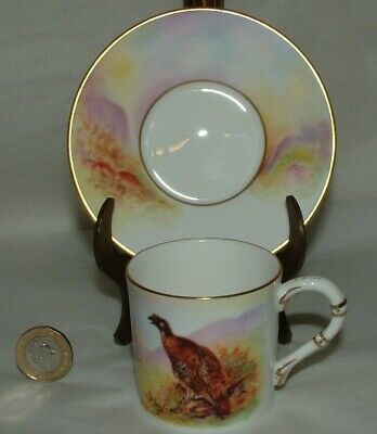 Royal Worcester Coffee/Demitasse & Saucer, Connoisseur Collection Game Birds  • 20£
