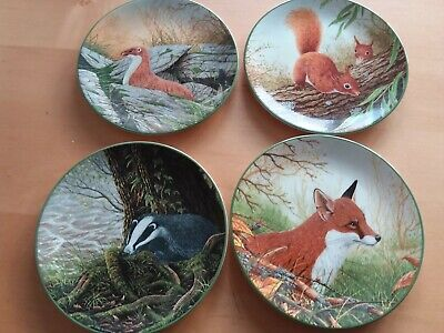Royal Doulton Collectors Plates Rollinson's Portraits Of Nature Fox Squirrel X 8 • 22£