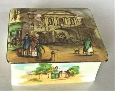 ROYAL WINTON LIDDED BOX. TEMPLE BAR TRANSFER UNUSUAL. Good Condition.. • 9£