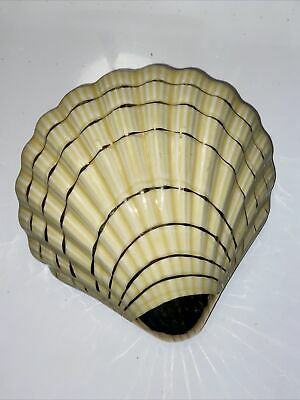 Art Deco Style Ceramic Scallop Large Shell Wall Pockets Gold Decoration Vintage • 12.50£