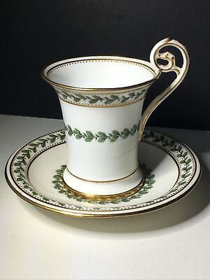 Mintons Antique 1891-1902 Tea /Coffee Cup Green Leaf & Gold With Scroll Handle. • 95£