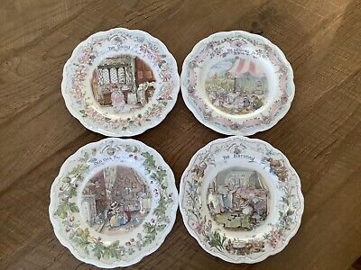 Royal Doulton Brambly Hedge Cabinet Plates. X 4 1st Quality • 68£