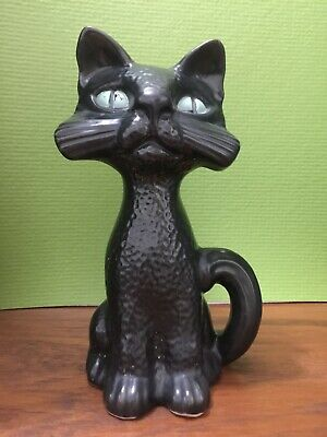 Dartmouth Pottery Black Cat With Green Eyes (NOT Moneybox Version)  • 17£