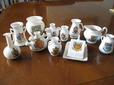 Antique Collection Of Crested China 11 Items Goss And Other Makers • 2.99£