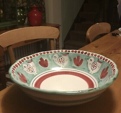 Vietri Solimene Chicken Pattern Large Bowl- Made In Italy • 35£