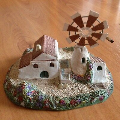 Lovely Pottery Windmill And Cottage - Hand Painted • 2£