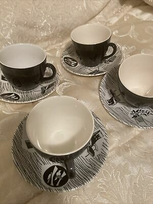 Vintage Ridgway Homemaker 1950s Tea Cups And Saucers Mid Century Woolworths • 55£