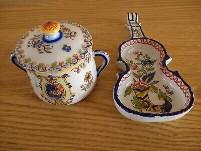 Antique  Faience C19TH  Hand Painted Rare Signed. • 12.99£