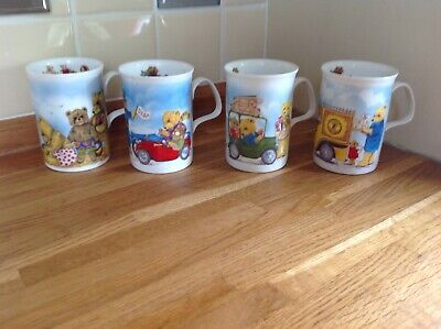 Roy Kirkham 1Playtime And 3 Vintage Teddy Fine Bone China Collectable Mugs • 7.50£