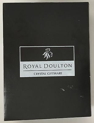 Royal Doulton Crystal Decanter Glass 3 Piece Set Elegant Luxury Giftware NEW • 52.99£