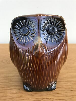 Superb Vintage Retro Arthur Wood Pottery Owl Money Box Made In England • 11£
