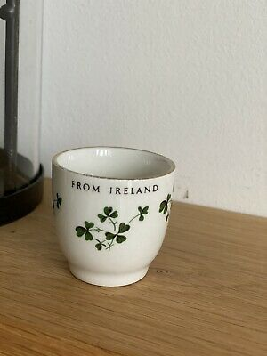 Vintage Carrigaline Irish Pottery Egg Cup With Clover Leaf • 3.50£