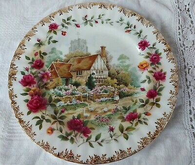 Royal Albert Old Country Roses Summer Plate, Drilled For Middle Tier Cakestand • 9.95£
