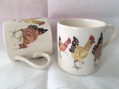 Set Of 2 Rosie's Hens Coffee Mugs Burleigh Ware Discontinued/Excellent Condition • 15£