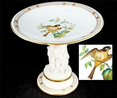 Bd Antique 19th Century English Porcelain Figural Centrepiece Comport Birds • 149.99£