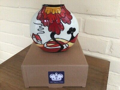 Old Tupton Ware Ceramic Vase Noon Pattern  Clarice Cliff Style 7  Approx • 22.99£