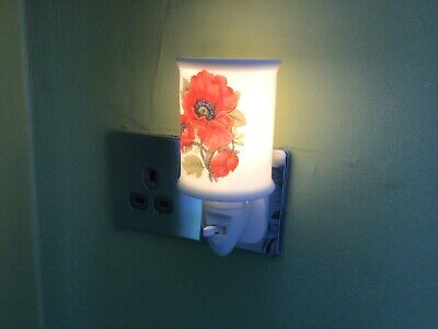 Redwood Collection Red Poppy Ceramic Nightlight  Led • 16.99£