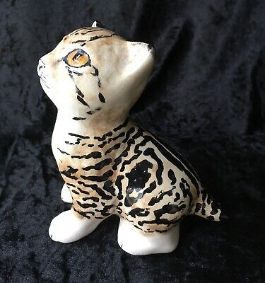 Tabby Kitten, Possibly By Seneshall, Studio Six (Fulham). Hand Painted Pottery • 29£