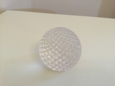 Caithness Round Thistle Cut Paperweight • 4.50£
