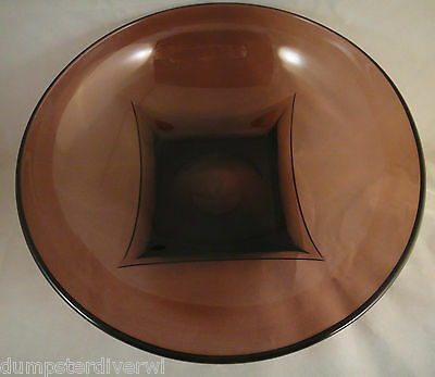 Moroccan Amethyst 10.75   Large Serving Bowl Hazel -Atlas Glass Vintage 50s 60s  • 21.16£