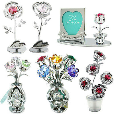 Crystal Ornaments Gift Box Set Crystocraft Made With Swarovski Elements Keepsake • 13.99£