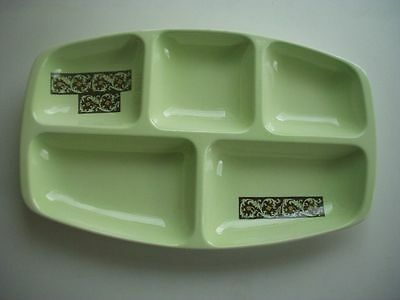 Vintage Carlton Ware 5 Section Hand Painted Hors D'oeuvres Dish ~pale Green • 17.99£