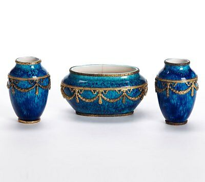 Paul Jean Millet Sevres Garniture Metal Mounted Vases 1900 • 550£