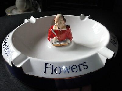 Collectable Carlton Ware Ashtray Flowers Keg Bitter Shakespeare Figure 2537 #2 • 30£