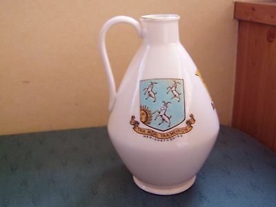 Large Barmouth Merionethshire Arms Of Wales 3 Crest Bath Jug Goss Crested China • 9.99£