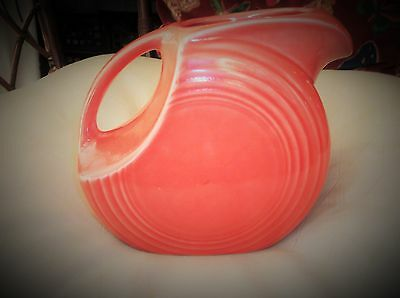Vintage Usa Art Pottery Disk Jug Pitcher Fiesta Rose Homer Laughlin 7   • 60£