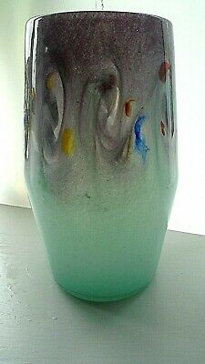 1970s VINTAGE SCOTTISH STRATHEARN GLASS VASE. • 65£