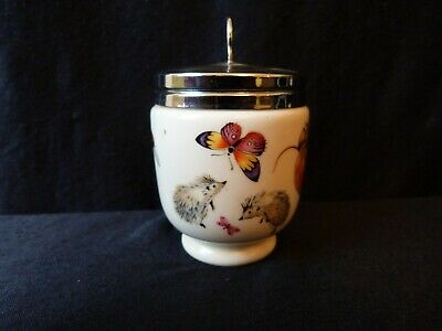 Double Egg Coddler Royal Worcester Unusual Rare Design Forest Animals Bunny Mice • 29.99£