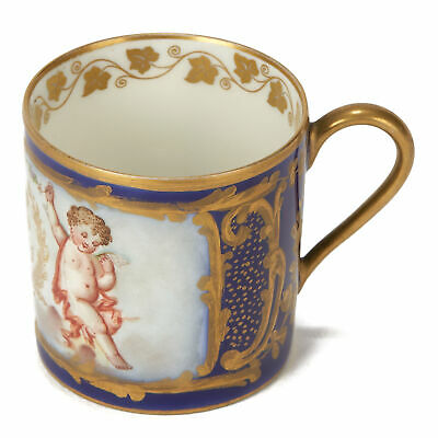 SÈvres Louis-philippe Crested Porcelain Coffee Can 1846 • 680£
