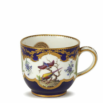 SÈvres Painted Teacup With Birds And Gilders Marks C.1752 • 2,450£