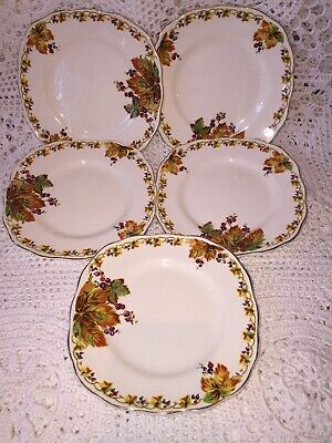 Collectable Vintage Creampetal Grindley Sandwich Plates 5x • 16£