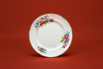6 Small Cake Plates With Flowers By Futura Vintage English Flowers Retro • 34.99£