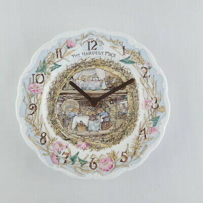 Royal Doulton 'Brambly Hedge' Harvest Mice Clock VGC • 42£