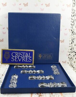 Beautiful Cristal De Sevres France Knife / Cutlery Rests Mint In Box • 38.99£