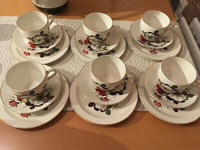 Beswick Fine China Tea Set. 6 Tea Cups, Saucers And Plates • 25£