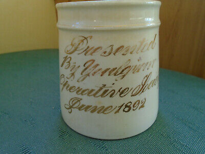 Rare June 1892 Dated Mug - Presented By Welsh Cooperative Society - Wales China • 7.99£