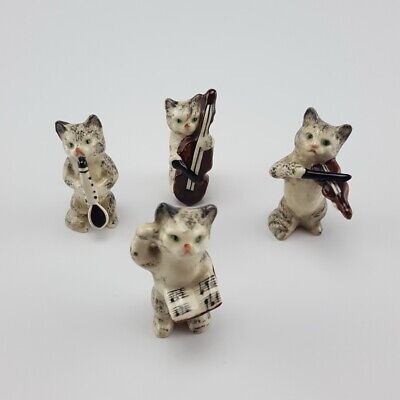 Vintage 4 X BESWICK Cat Band Orchestra Figurines Very Good Condition • 60£