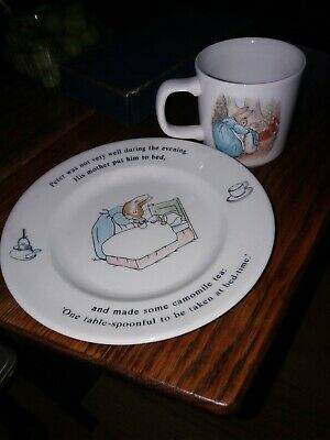 Peter Rabbit Wedgwood  Cup & Plate Great Condition • 5£