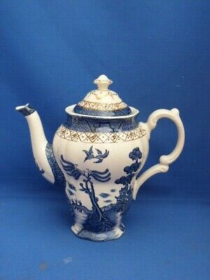 Collectable Vintage White Booths  Real Old Willow  Design Coffee/Tea Pot H20cms • 35£