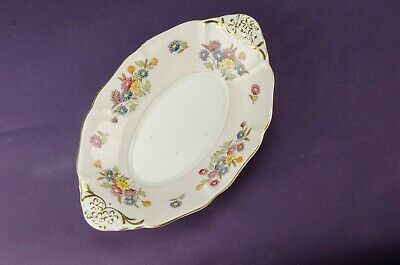 1950s Bowl Serving Dish Oval Plate Pink Floral Vintage Bone China English Retro • 24.99£