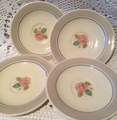 Susie Cooper Rose 4x Saucers Vintage More Listed • 8£