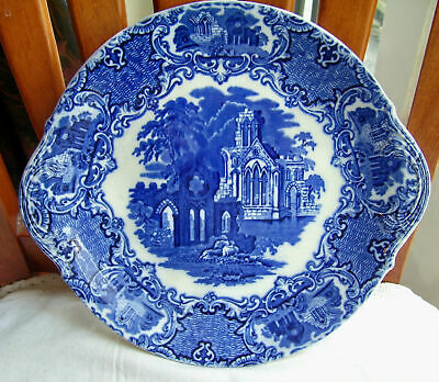 Blue And White George Jones Abbey Cake Plate • 15£