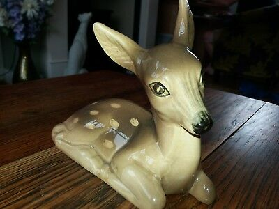 RARE LARGER SIZE   FAWN - Possibly MIDWINTER ?? PORCELAIN FIGURE 8  Long 7 High  • 5£