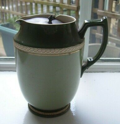 W&R Carlton Ware Pitcher Jug With Pewter Lid   • 18£