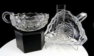 Fostoria American Clear Crystal 2 Piece 5 1/2  Handled Nappies 1915-1982 • 15.22£